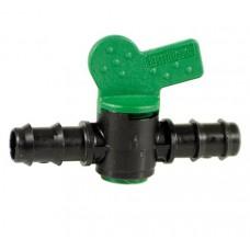 Кран для капельной трубки 16 мм. на 16 мм.